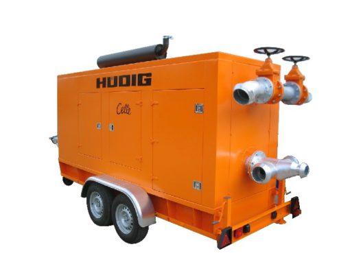 Pompowanie ścieków agregatami pompowymi Huedig (Hudig)