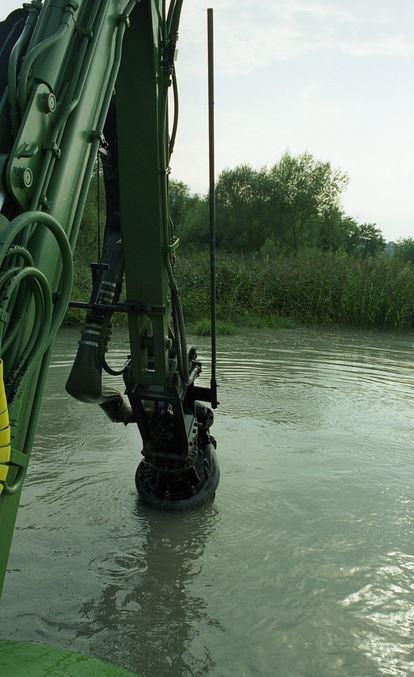 Prace pogłębieniowe z użyciem pomp hydraulicznych